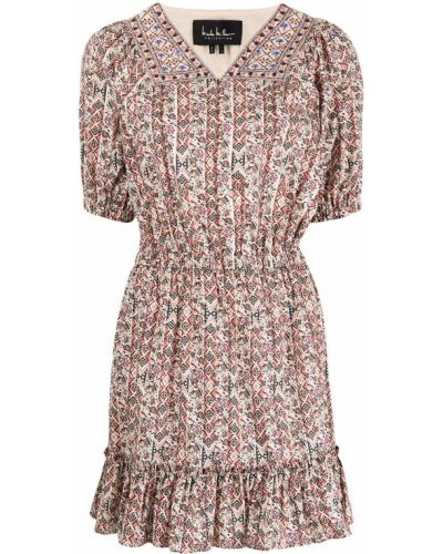 Платье мини короткое Nicole Miller