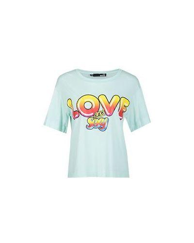Футболка зеленый Moschino Love