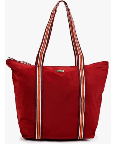 Бордовая зимняя сумка Lacoste