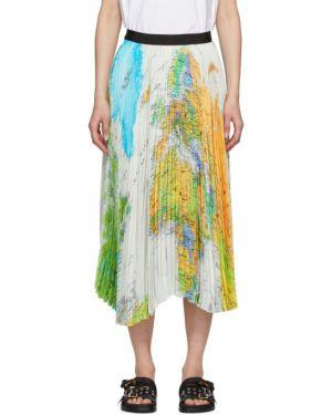 Плиссированная юбка с цветочным принтом пачка Sacai