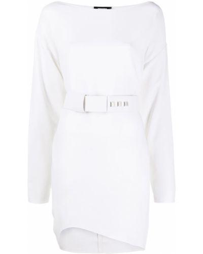Белое платье макси с поясом с вырезом Dsquared2
