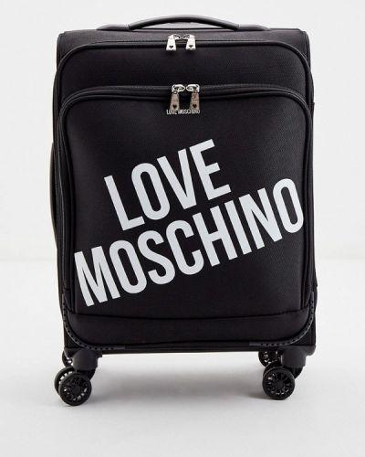 Черный чемодан Love Moschino