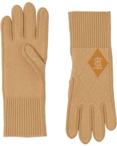 Шерстяные вязаные перчатки в рубчик Burberry