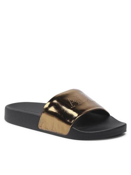 Złote sandały Allsaints