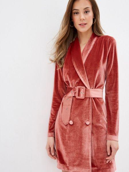 Платье коралловый платье-пиджак Viaville