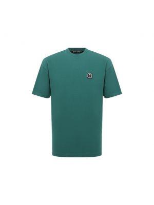 Зеленая итальянская футболка Palm Angels