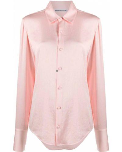 Różowa koszula Alexander Wang