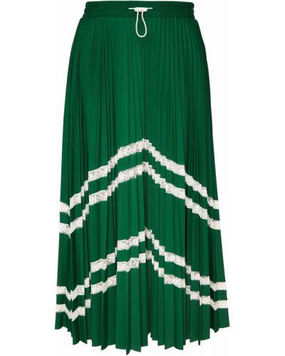 Плиссированная юбка на резинке миди Valentino