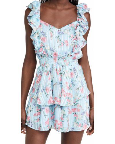Платье в полоску - синее Yumi Kim