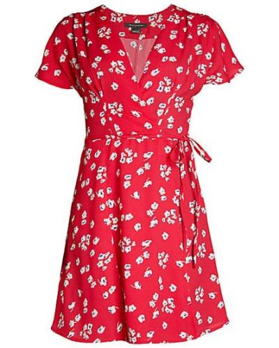 С рукавами платье мини на молнии из крепа French Connection