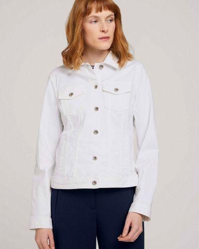 Белая джинсовая куртка Tom Tailor
