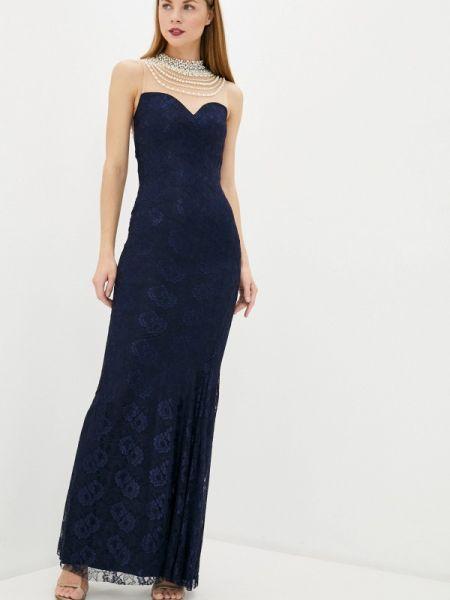 Вечернее платье синее весеннее Soky & Soka