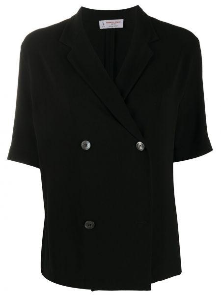 Прямой черный приталенный классический пиджак Alberto Biani