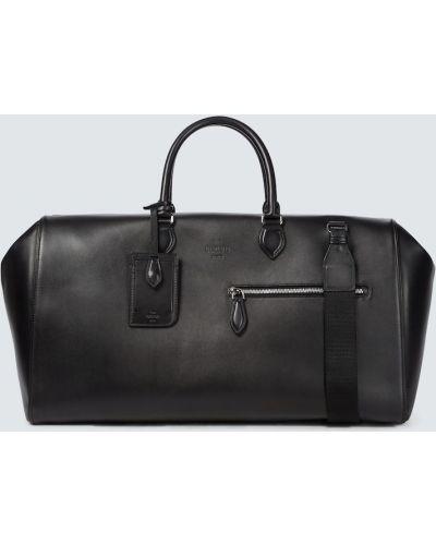 Czarna torebka skórzana Berluti