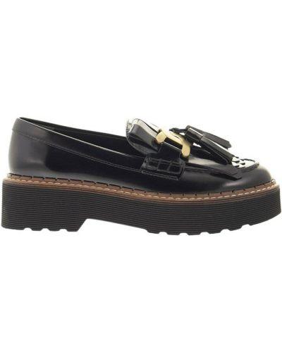 Czarne loafers Tod's