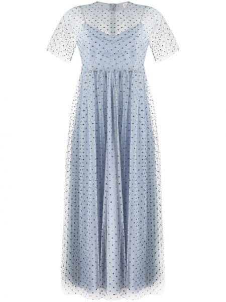 Платье мини миди синее Redvalentino