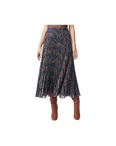 Синяя плиссированная юбка Luisa Spagnoli