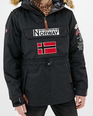 Утепленная куртка черная Geographical Norway