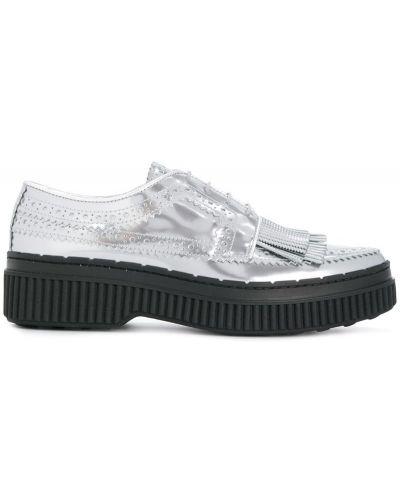Кожаные туфли с бахромой Tods