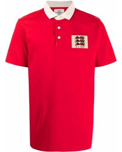 Czerwona koszula krótki rękaw bawełniana Kent & Curwen