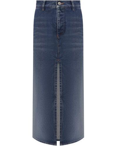 Джинсовая юбка с завышенной талией с поясом Balenciaga