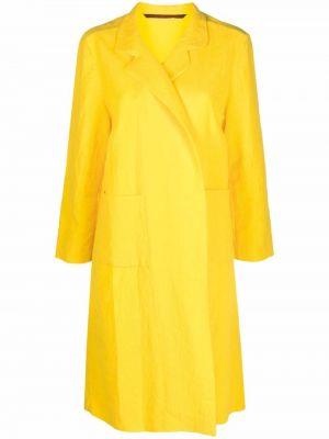 Желтое пальто миди Daniela Gregis