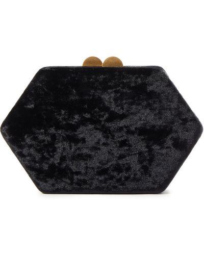 Czarna złota kopertówka Kayu