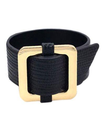 Кожаный браслет золотой серебряный Evora