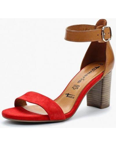Красные босоножки на каблуке Tamaris