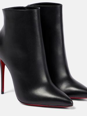 Klasyczne czarne ankle boots skorzane Christian Louboutin