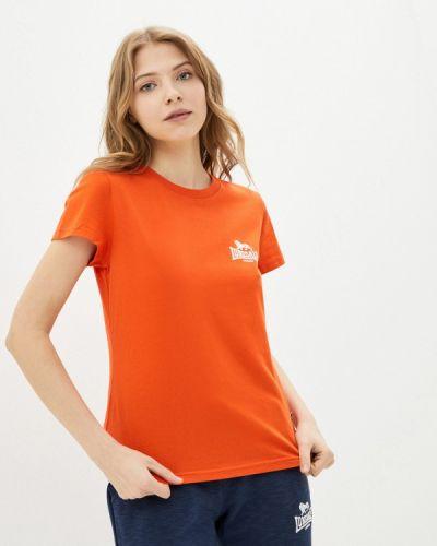 Оранжевая футболка Lonsdale