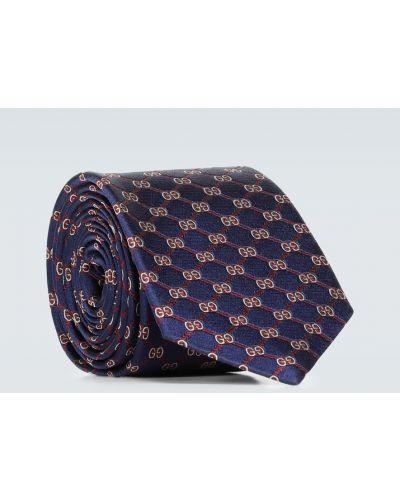 Krawat, niebieski Gucci