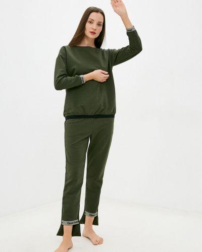 Костюмный домашний зеленый костюм Tenerezza