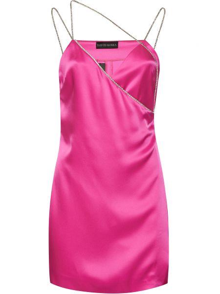 Платье с поясом - розовое David Koma