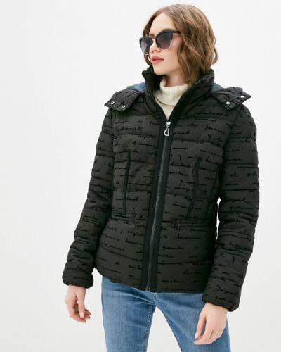 Утепленная черная куртка Desigual