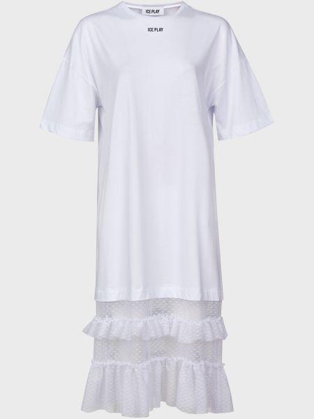 Хлопковое белое платье Ice Play