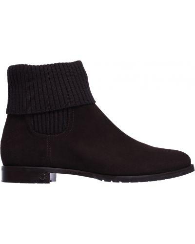 Кожаные ботинки осенние замшевые Le Silla