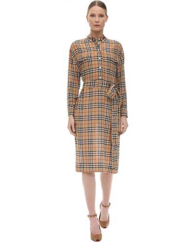Платье с поясом на пуговицах платье-рубашка Burberry