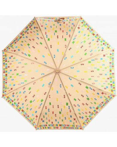 Зонт бежевый Moschino