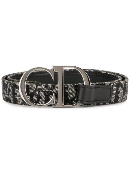 Pasek skórzany z paskiem klamry Christian Dior