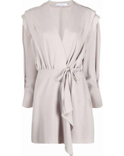 Платье макси с длинными рукавами - серое Iro