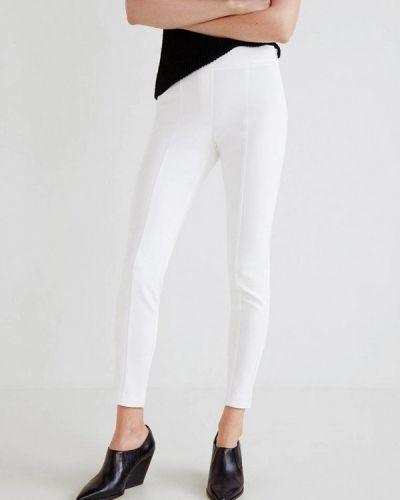 Белые брюки с завышенной талией Mango