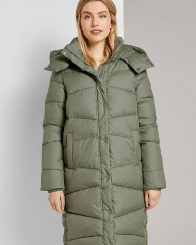 Утепленная зеленая куртка Tom Tailor
