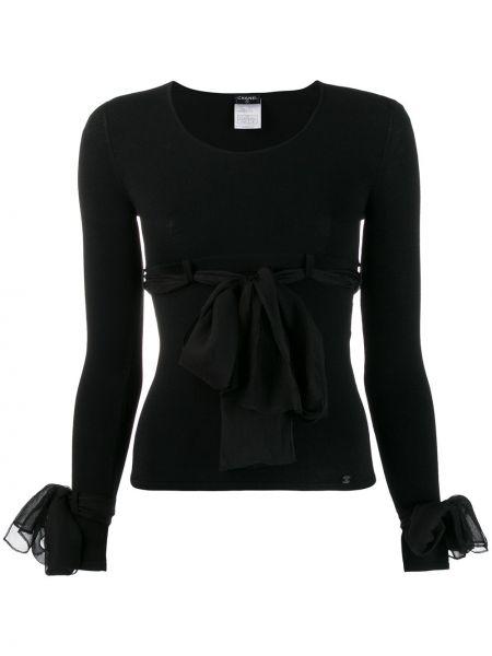 Bluzka z długim rękawem jedwabna francuski Chanel Pre-owned