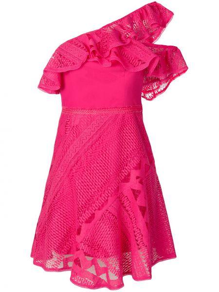 Платье розовое с оборками Three Floor