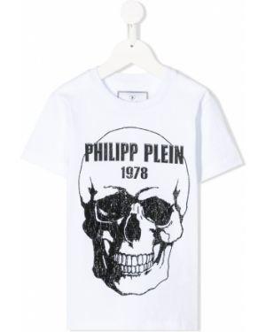 Czarny t-shirt bawełniany krótki rękaw Philipp Plein