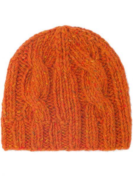 Czapka beanie - pomarańczowa Prada