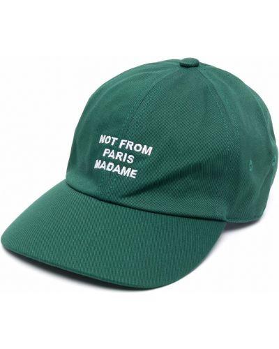Zielona czapka z daszkiem Drole De Monsieur