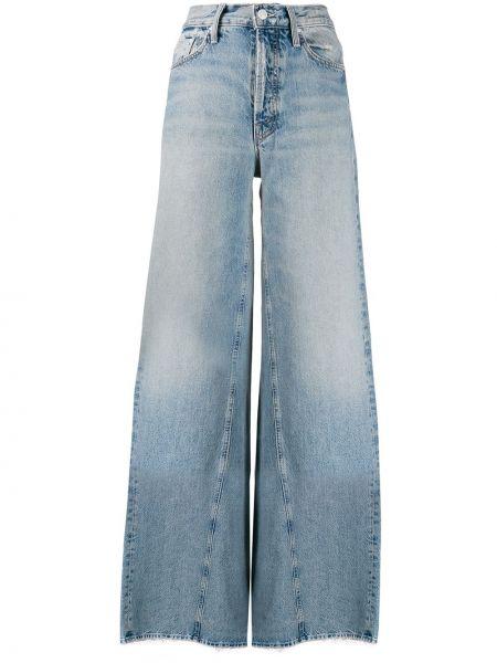 Широкие джинсы mom с накладными карманами Mother