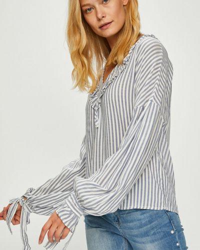 Блузка из вискозы с V-образным вырезом Trendyol